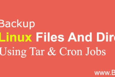 Backup linux files using tar and cronjob