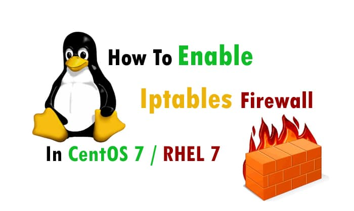 Enable iptables firewall in centos 7