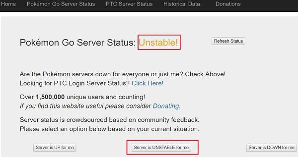 Pokemon Go Server Login problem Cause