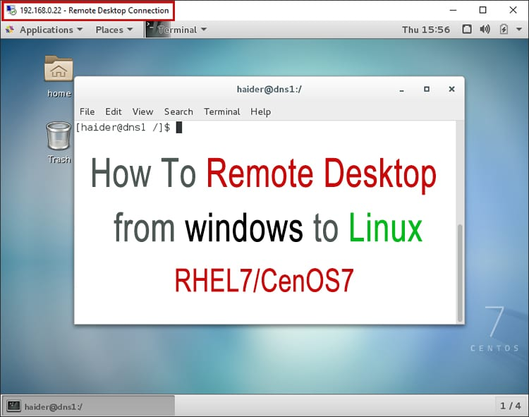 Install xrdp on CentOS 7 / RHEL 7