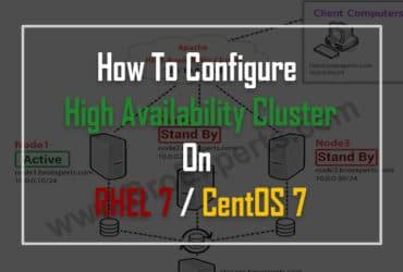 3 Node Apache High Availability Cluster on RHEL 7 / CentOS 7