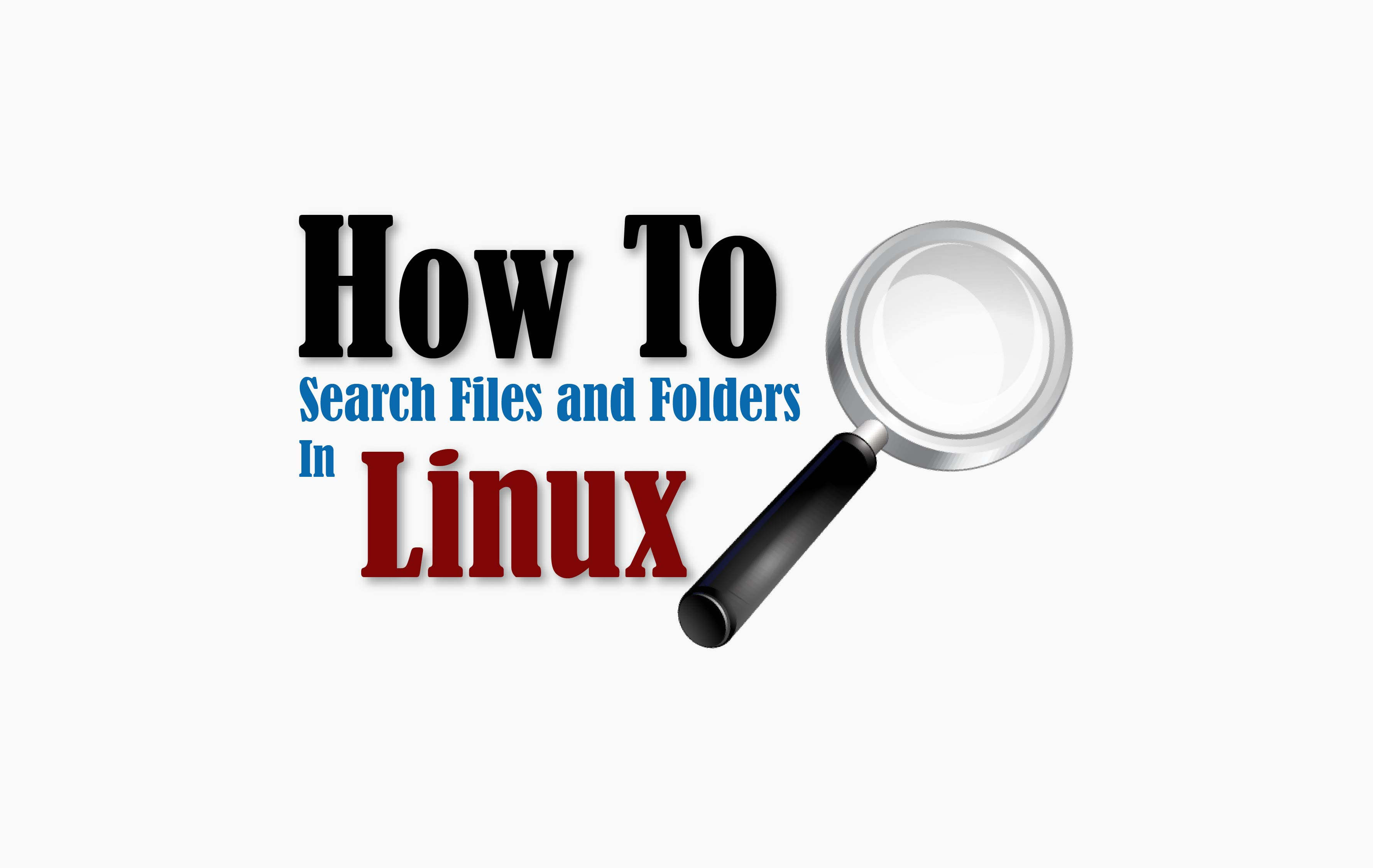 find files and folders in linux command line