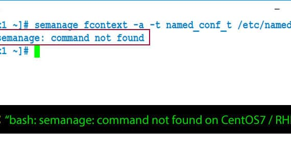 semanage Command Not Found CentOS7 / RHEL7