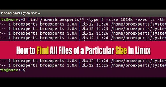 How to Find Files of a Particular Size In Linux