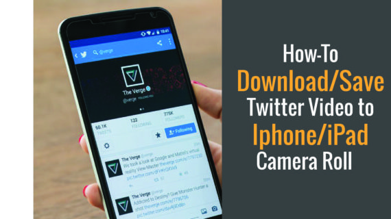 Best way to download twitter videos to iphone/ipad