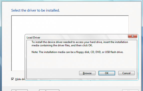 A Required CD-DVD Device Driver is Missing Error