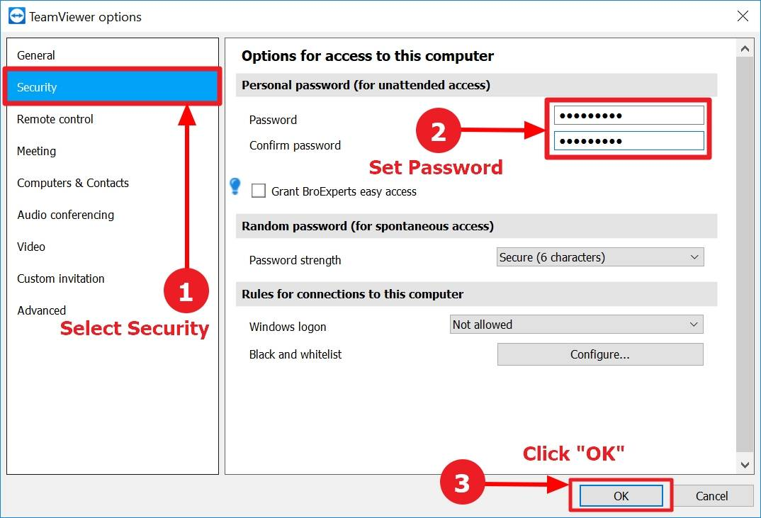 access teamviewer without password